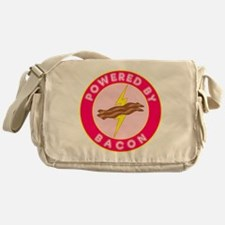 powered by bacon lightning 10 Messenger Bag