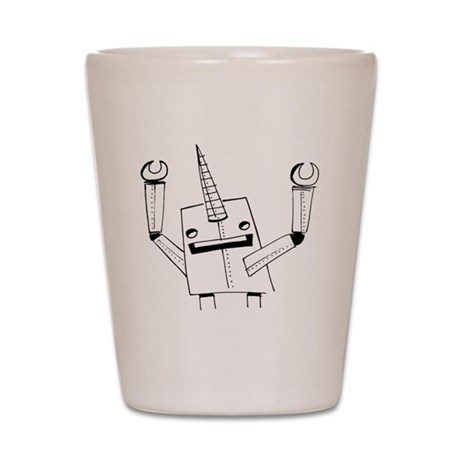 Robot Narwhal Shot Glass