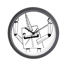 Robot Narwhal Wall Clock