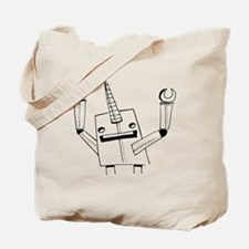 Robot Narwhal Tote Bag
