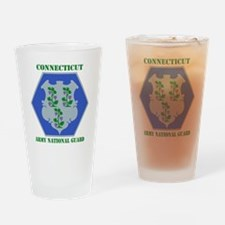 Connecticut ANG with text Drinking Glass