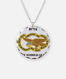 IOWA ANG with text Necklace