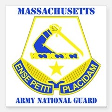 """MASSACHUSETTS ANG with t Square Car Magnet 3"""" x 3"""""""