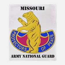 Missouri ANG with text Throw Blanket