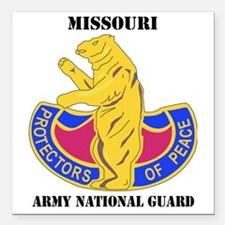 "Missouri ANG with text Square Car Magnet 3"" x 3"""