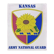 KANSAS ANG with text Throw Blanket