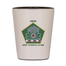 OHIO ANG with text Shot Glass
