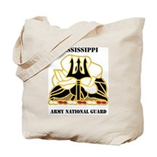 MISSISSIPPI ANG with text Tote Bag