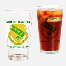 NORTH DAKAOTA ANG with text Drinking Glass