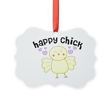 Happy Chick Ornament