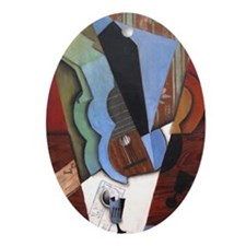 Juan Gris - Abstraction (Guitar and  Oval Ornament