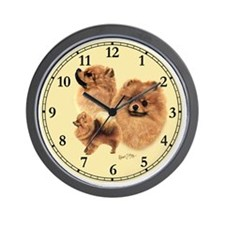 Pomeranian Clock Wall Clock