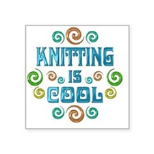 "knitting Square Sticker 3"" x 3"""