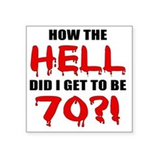 "Hell70 Square Sticker 3"" x 3"""