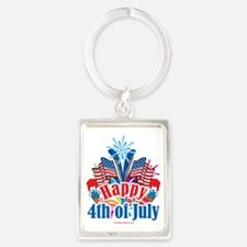 Happy-4th-of-July Portrait Keychain