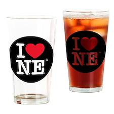 Heart Black Circle copy Drinking Glass