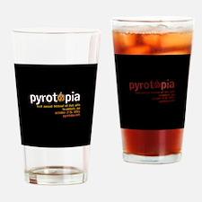 pyrotopia_logo_bigblack Drinking Glass
