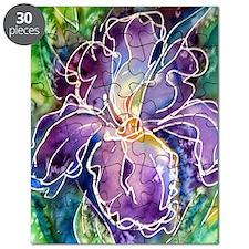Iris! Beautiful, purple flower Puzzle