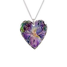 Iris! Beautiful, purple flowe Necklace