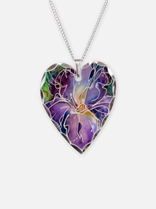 Iris! Beautiful, purple flowe Necklace
