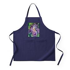 Iris! Beautiful, purple flower Apron (dark)