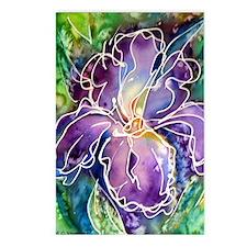 Iris! Beautiful, purple f Postcards (Package of 8)