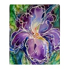 Iris! Beautiful, purple flower Throw Blanket