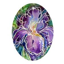 Iris! Beautiful, purple flower Oval Ornament