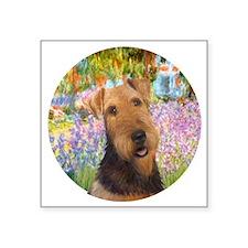 "J-ORN-Garden-Airedale #1 Square Sticker 3"" x 3"""