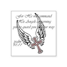 "angels Square Sticker 3"" x 3"""