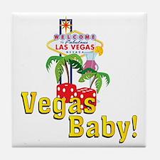 vegas baby final Tile Coaster