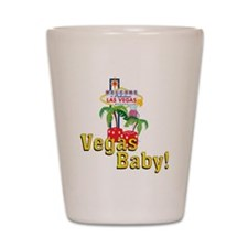 vegas baby final Shot Glass