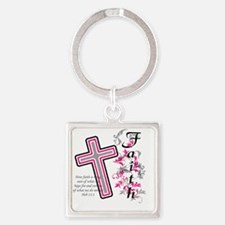 faith 2 Square Keychain