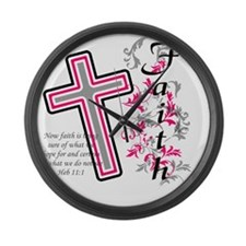 faith 2 Large Wall Clock