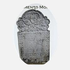 Memento Mori Oval Ornament