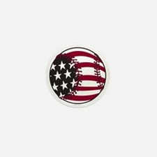 Flag Baseball Mini Button