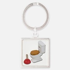 ToiletLargePlunger051411 Square Keychain