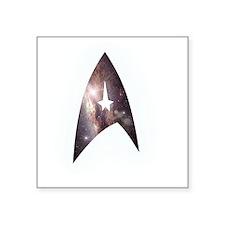 """StarfleetEmblemStarfieldD Square Sticker 3"""" x 3"""""""