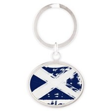 scotland Oval Keychain