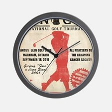TC Vintage Poster4 Wall Clock