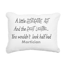 Mortician little restora Rectangular Canvas Pillow