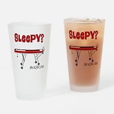 Sleepy mortician Drinking Glass