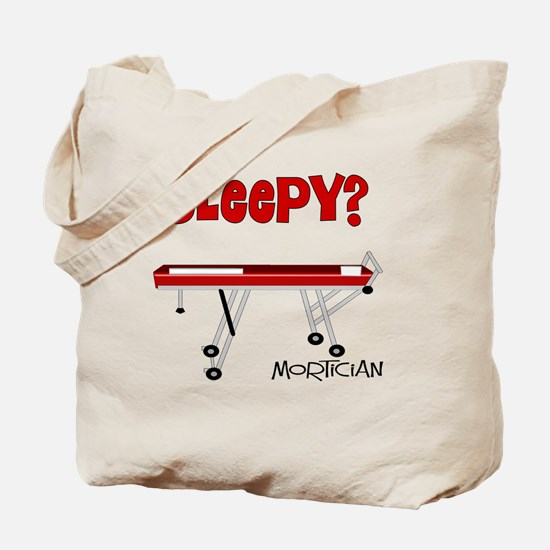 Sleepy mortician Tote Bag