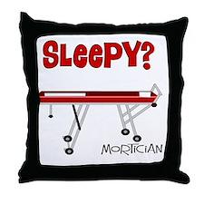 Sleepy mortician Throw Pillow