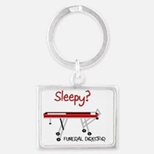 Sleepy funeral director Landscape Keychain