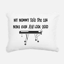 my mommy said Rectangular Canvas Pillow