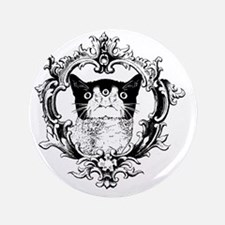 "Kitty3 Ornate 3.5"" Button"