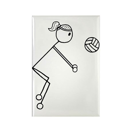Volleyball girl clear1.gif Rectangle Magnet