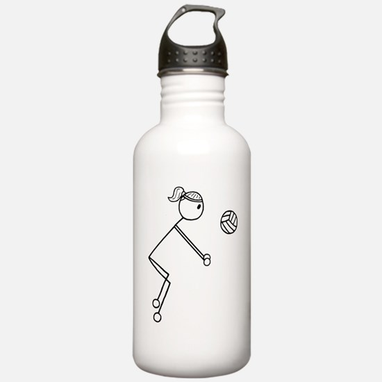 Volleyball girl clear1 Water Bottle