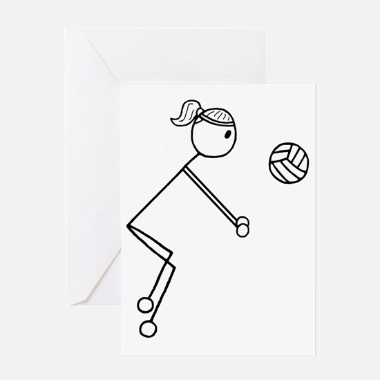Volleyball girl clear1.gif Greeting Card